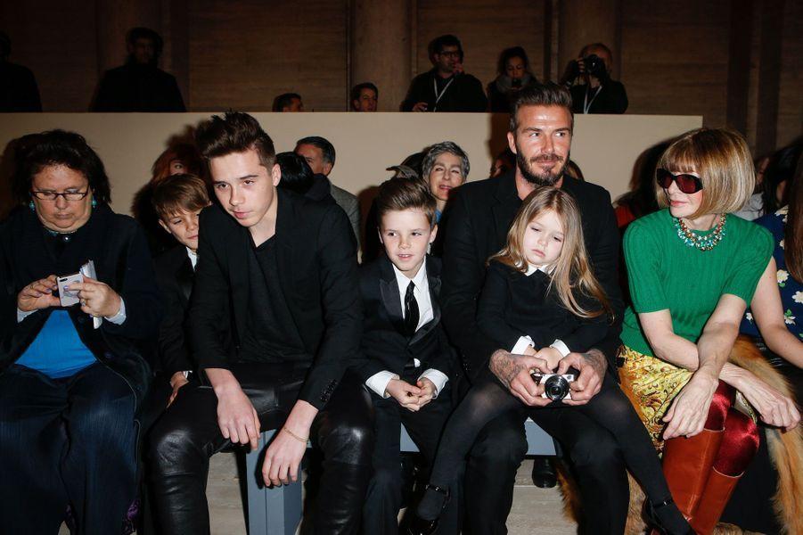 La famille Beckham à la Fashion Week de New York