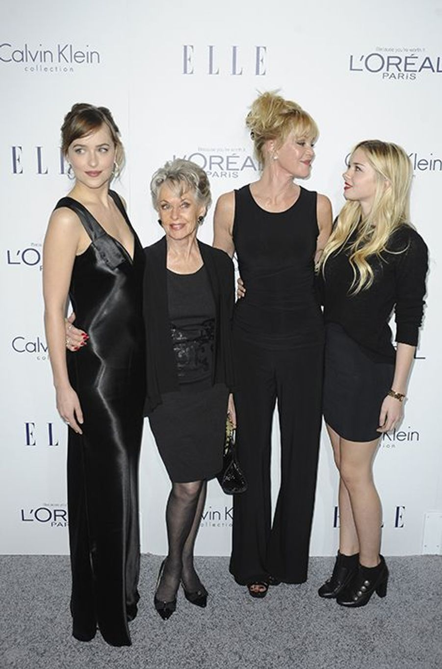 Dakota Johnson, Tippi Hedren, Melanie Griffith et Stella Banderas