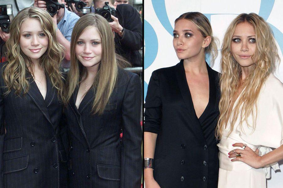Mary-Kate et Ashley sont sur le devant de la scène depuis leurs six mois et leur rôle dans la sérieLa fête à la maison. Après avoir enchaîné les apparitions dans plusieurs films, Mary-Kate a fait scandale en apparaissant très maigre sur les tapis rouges. Elle a même été accusée de faire l'apologie de la minceur. En 2004, la jeune fille a finalement été hospitalisée pour soigner son anorexie mentale. Depuis, les deux sœurs se sont reconverties avec succès dans le stylisme.