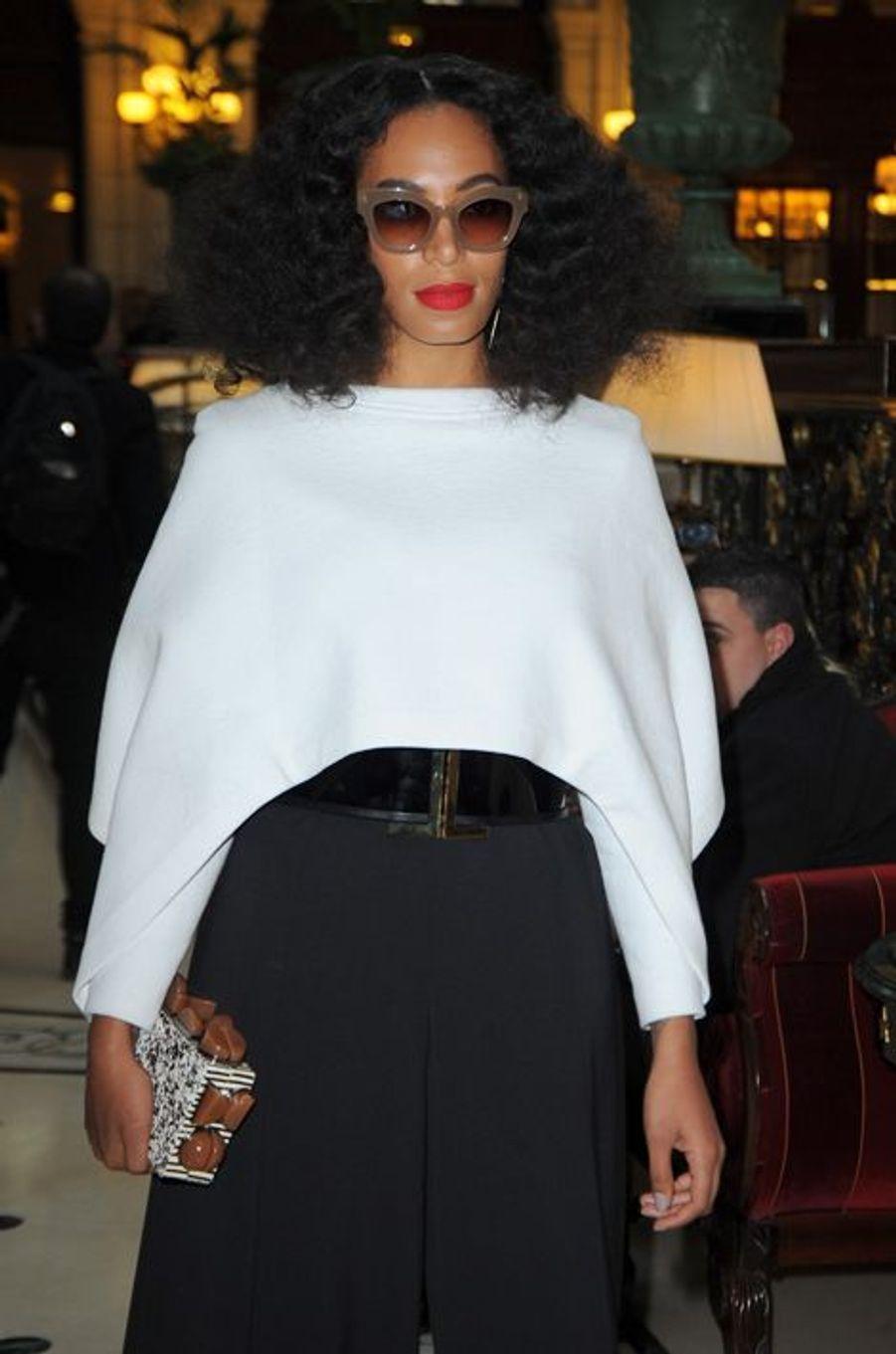 Solange Knowles au défilé Balmain