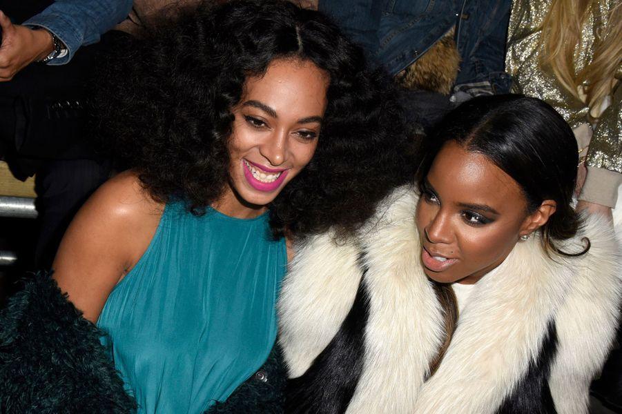 Solange Knowles et Kelly Rowland au défilé Lanvin