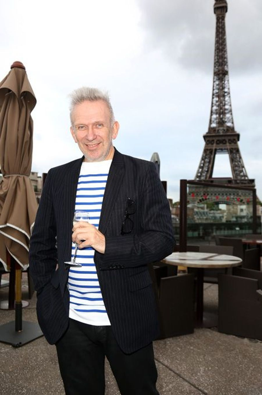 Le président du jury, le créateur de mode Jean Paul Gaultier