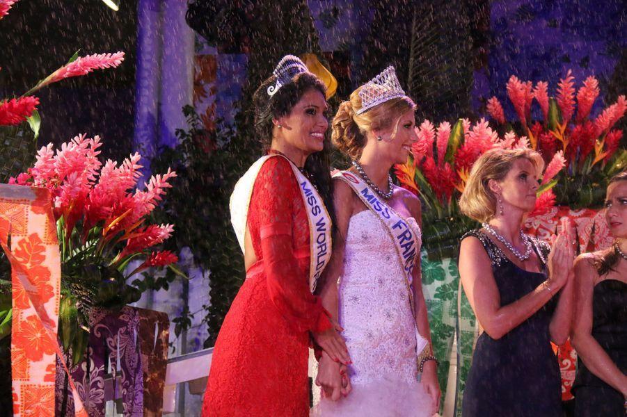 Hinarere Taputu élue Miss World France aux côtés de Camille Cerf