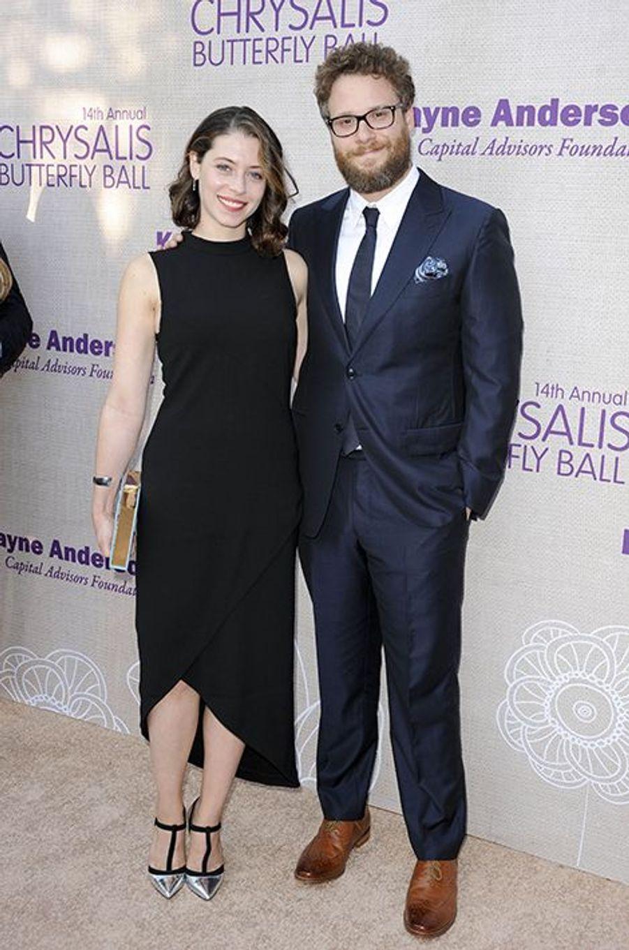 Seth Rogen et son épouse, Lauren Miller, à Los Angeles le 6 juin 2015