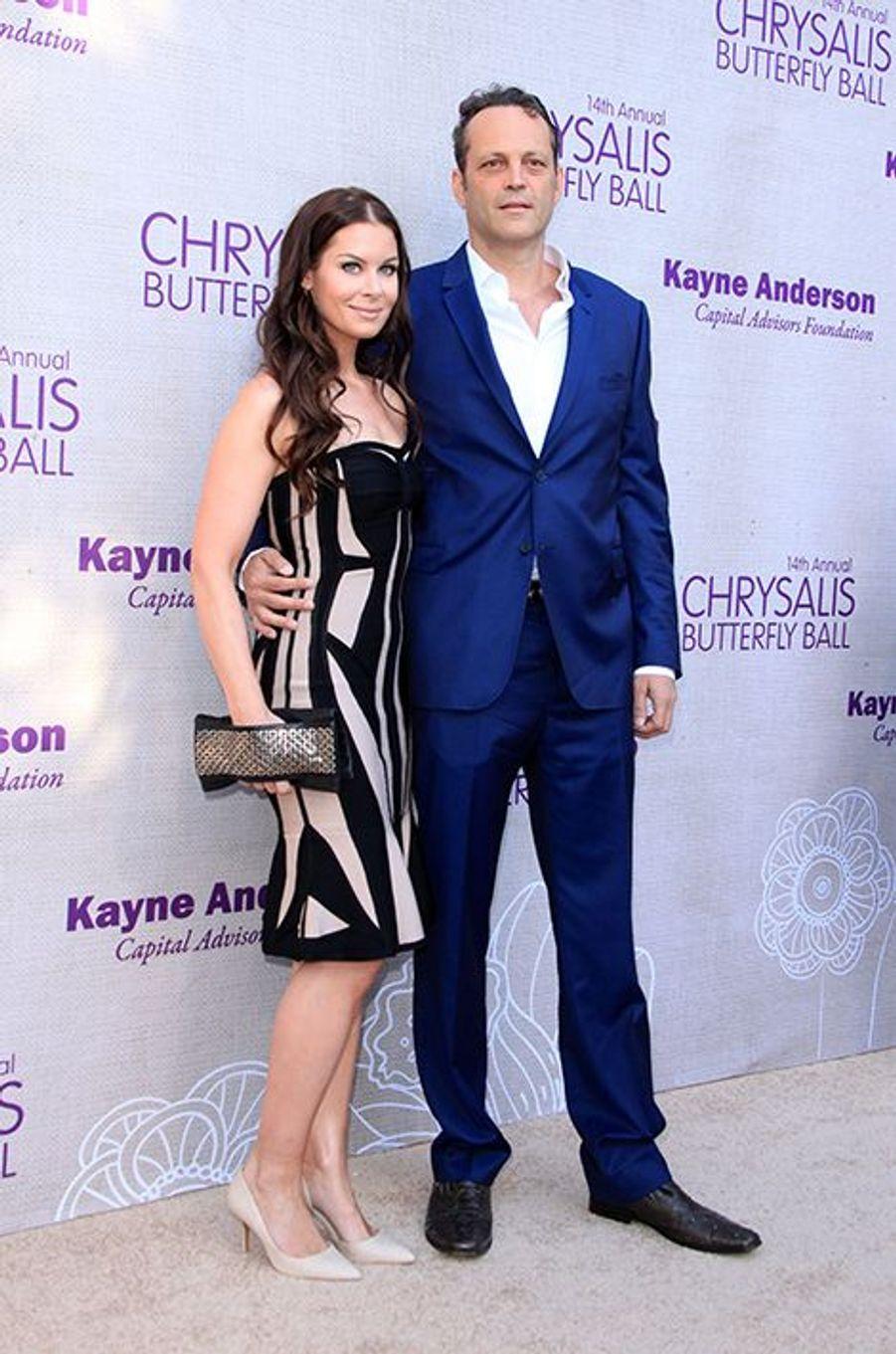 Vince Vaughn et son épouse, Kyla Weber, à Los Angeles le 6 juin 2015
