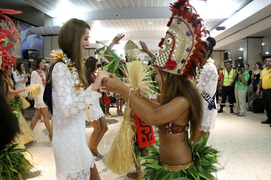 Pour le voyage de préparation de Miss France 2016, les 31 miss régionales ont atterri à Tahiti dimanche dernier.