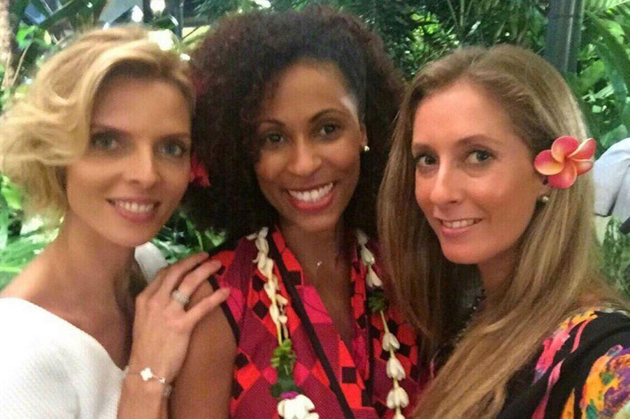 Sylvie Tellier a retrouvé la promotion Miss France 2001 à Tahiti cette semaine.