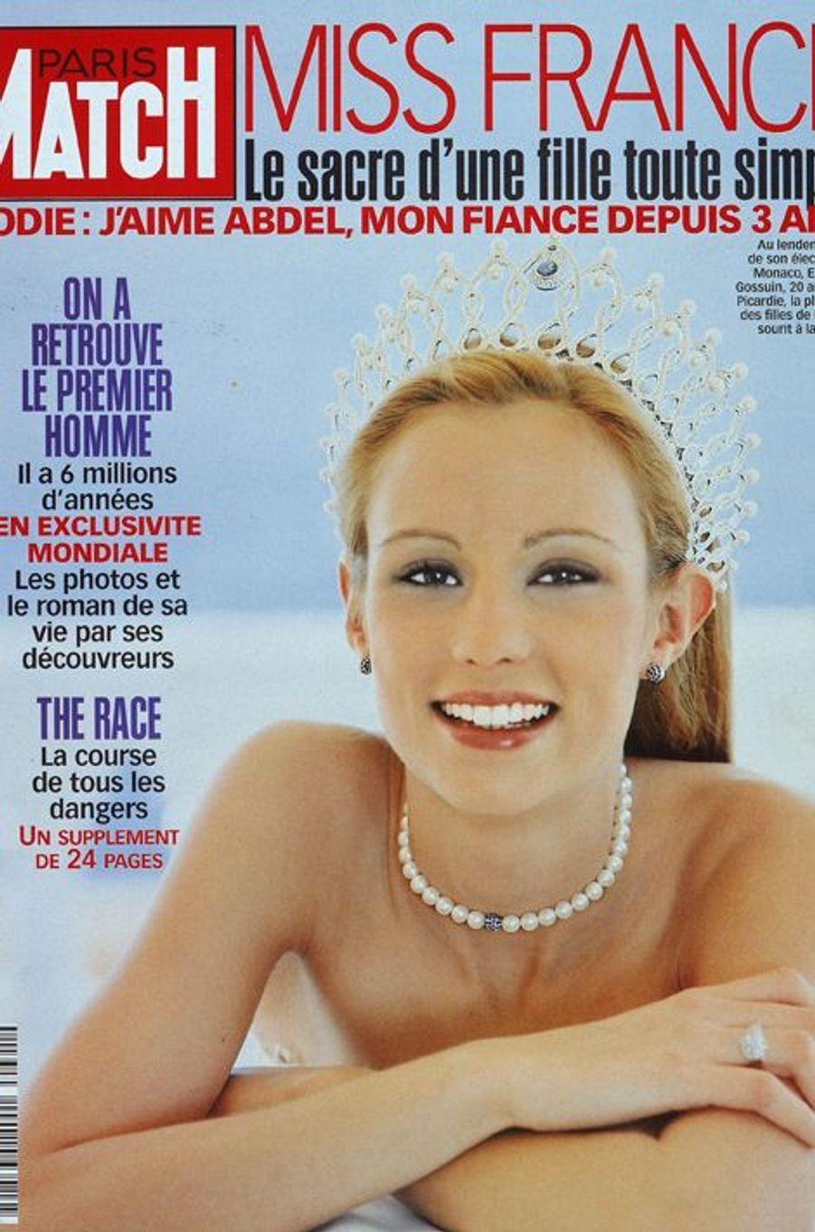 Après le règne de Sonia Rolland, Élodie Gossuin s'est imposée avec charme sur le devant de la scène française. Élue le 9 décembre 2000, elle a également été élue Miss Europe 2001. Maman comblée de quatre enfants, l'épouse de Bertrand Lacherie est aujourd'hui animatrice et conseillère régionale.