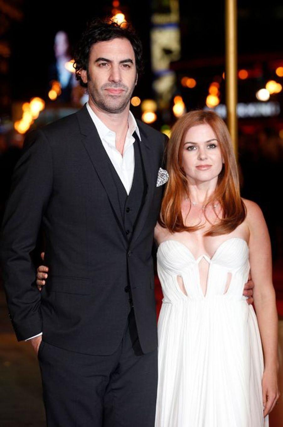 Les acteurs Sacha Baron Cohen et Isla Fisher ont accueilli un petit garçon, Montgomery Moses Brian Baron Cohen, en mars 2015.