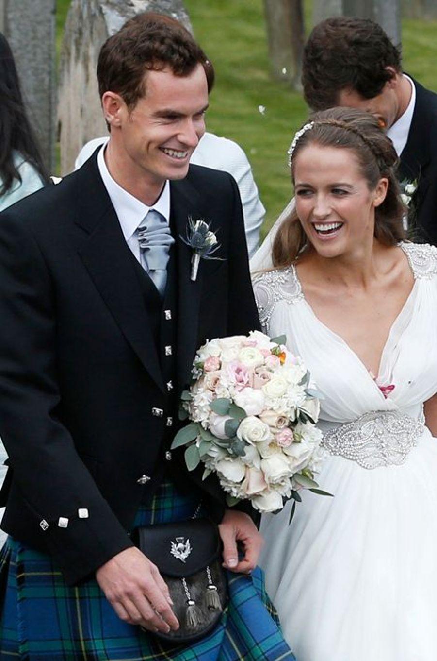 Le tennisman Andy Murray et sa femme Kim Sears attendent leur premier enfant, prévu pour le mois de février.