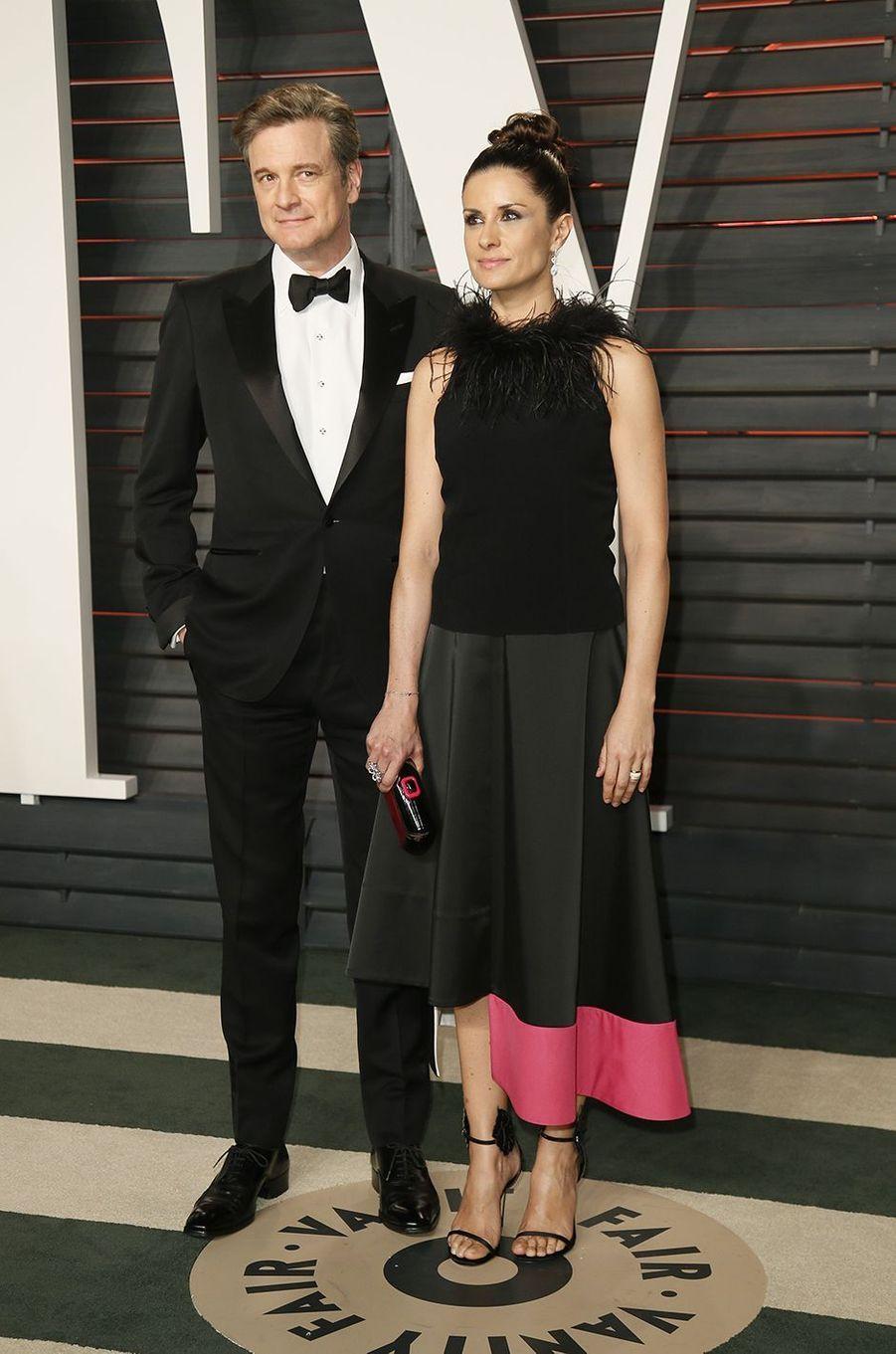 """Colin Firth et son épouse Livia à l'after-party """"Vanity Fair"""" le 28 février 2016 à Los Angeles"""