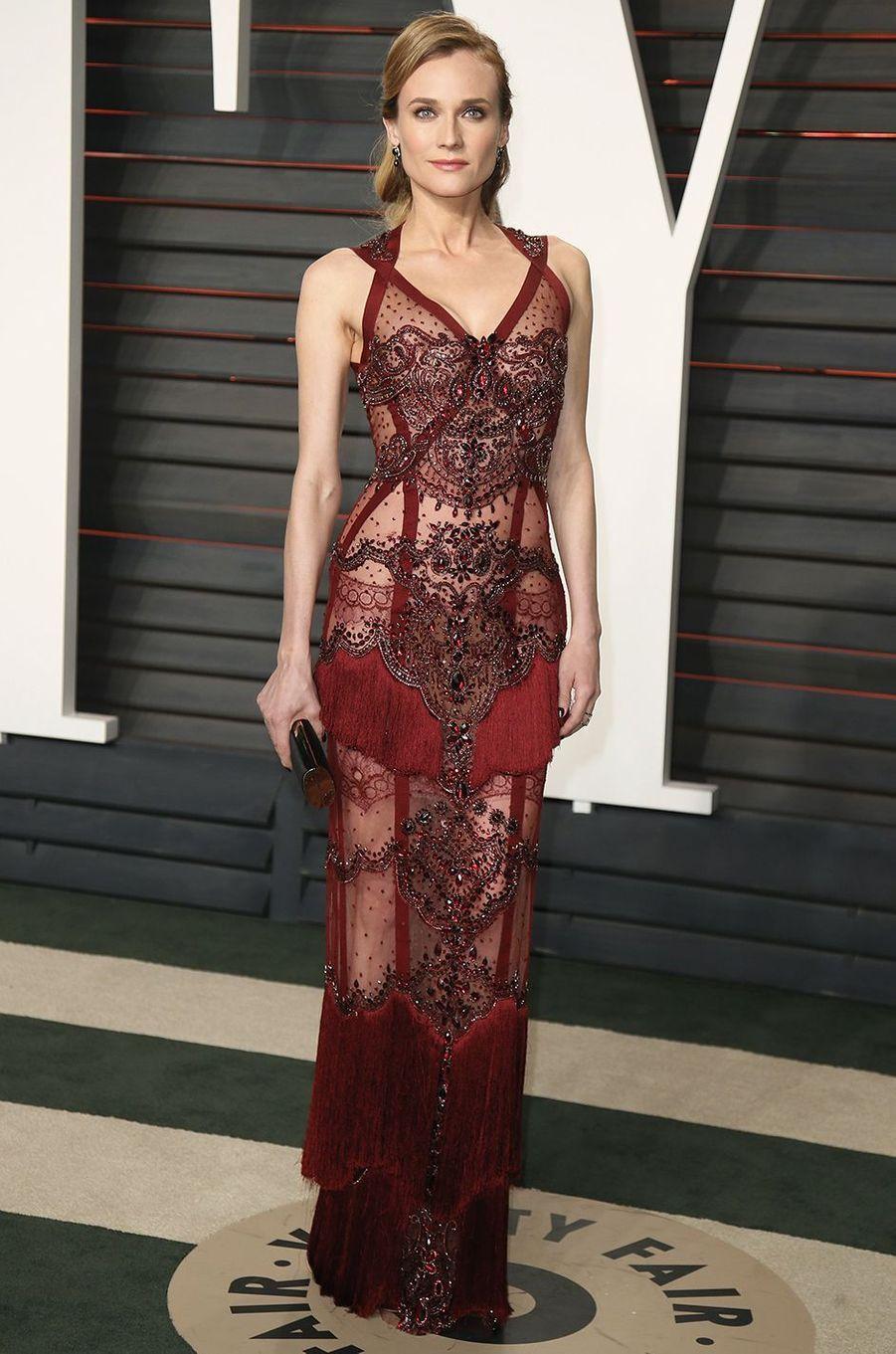 """Diane Kruger à l'after-party """"Vanity Fair"""" le 28 février 2016 à Los Angeles"""