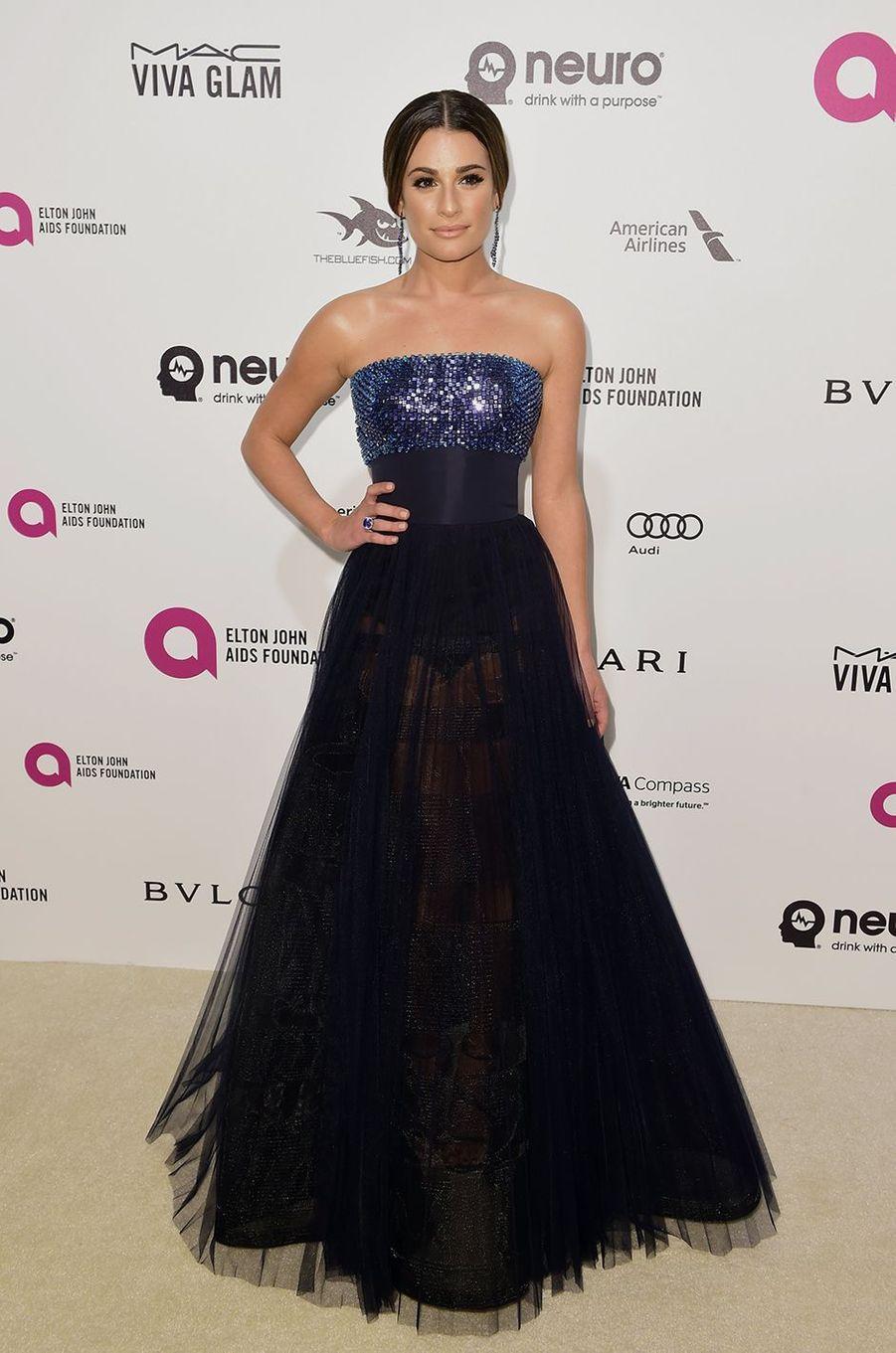 Lea Michele au gala organisé au profit de la recherche contre le Sida à Los Angeles le 28 février 2016