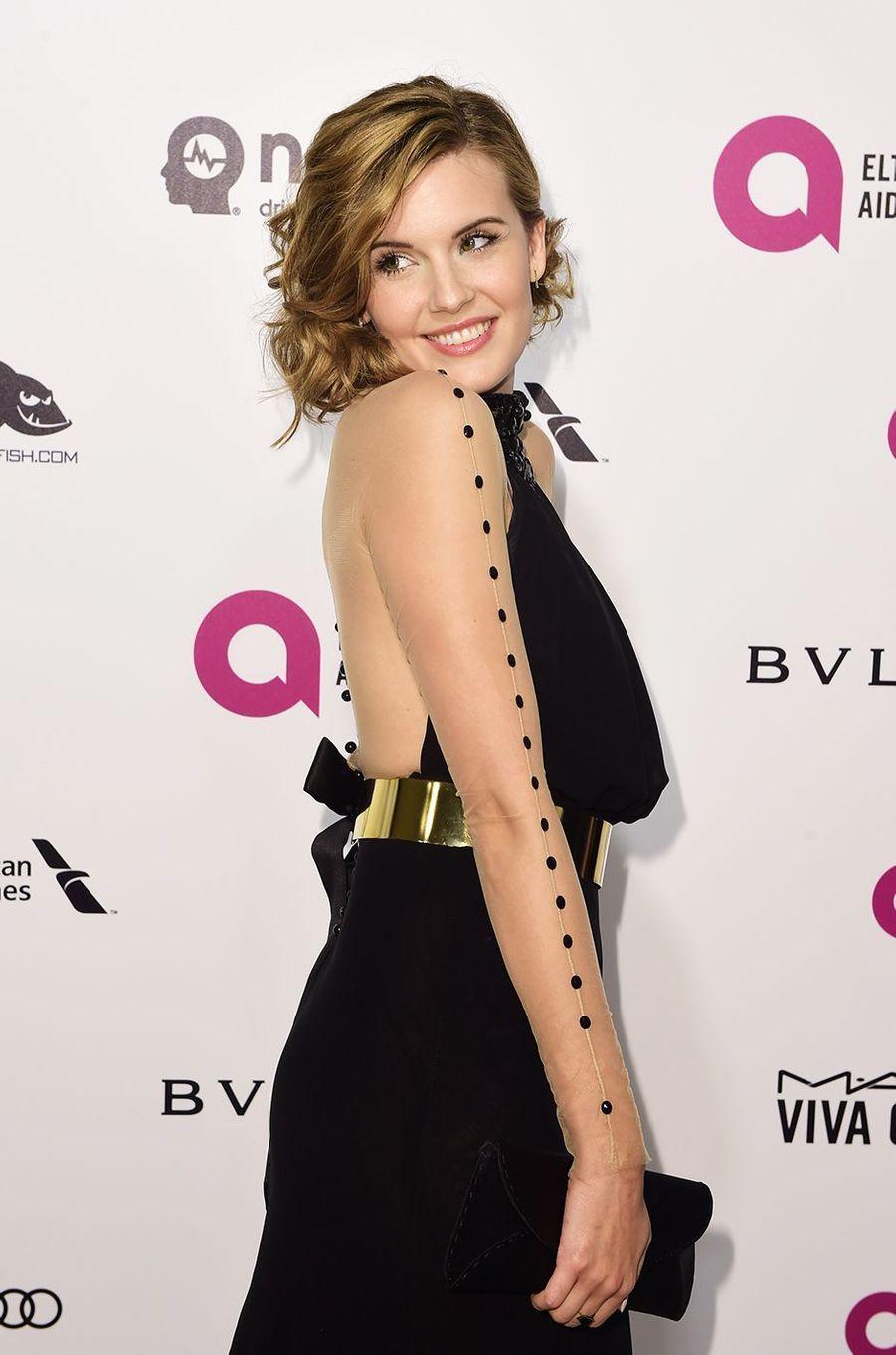Maggie Grace au gala organisé au profit de la recherche contre le Sida à Los Angeles le 28 février 2016