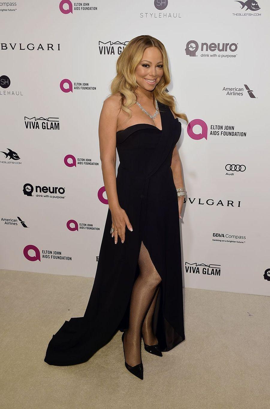 Mariah Carey au gala organisé au profit de la recherche contre le Sida à Los Angeles le 28 février 2016