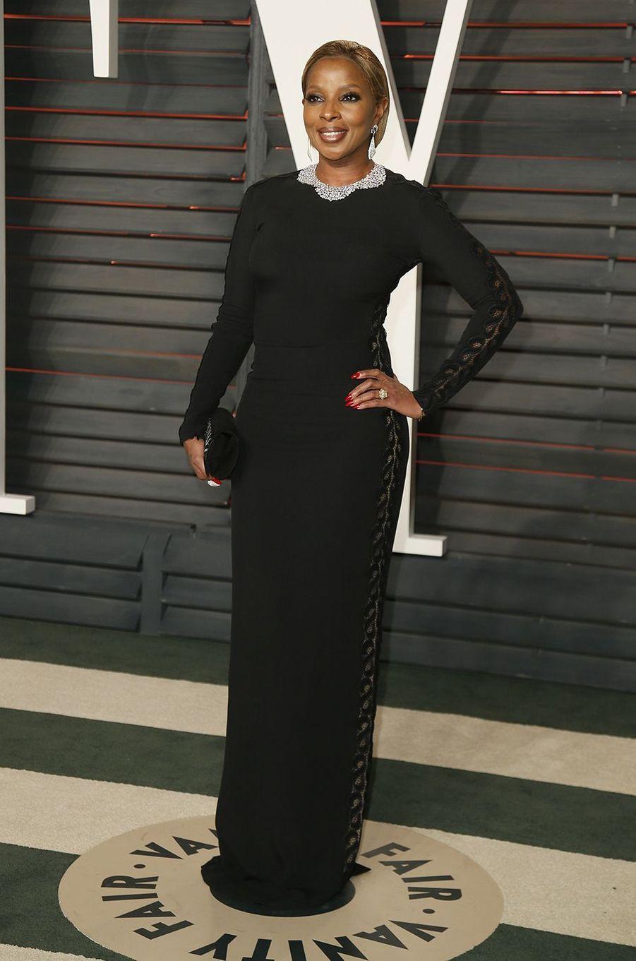 """Mary J. Blige à l'after-party """"Vanity Fair"""" le 28 février 2016 à Los Angeles"""
