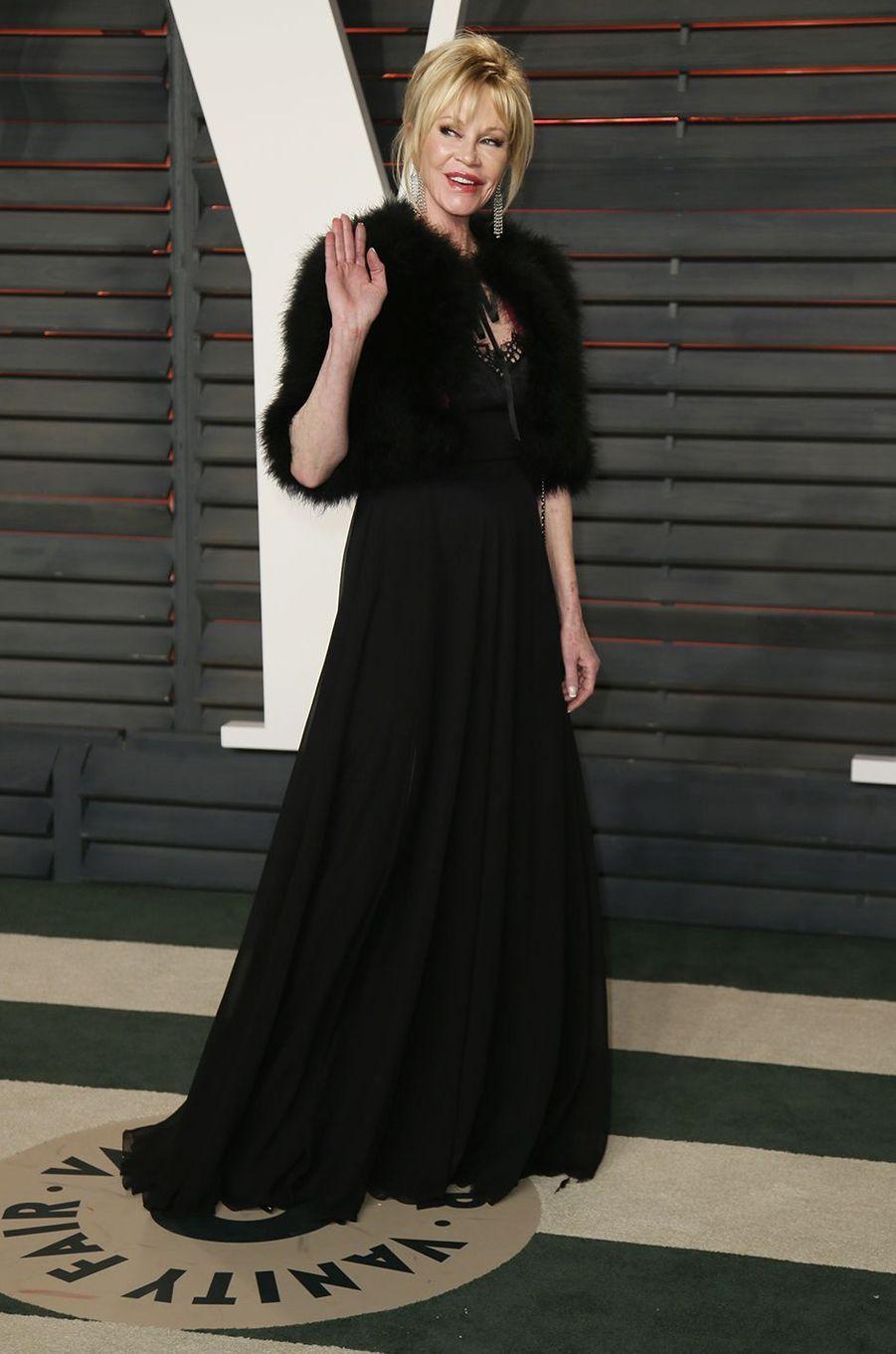 """Melanie Griffith à l'after-party du magazine """"Vanity Fair"""" le 28 février 2016 à Los Angeles"""