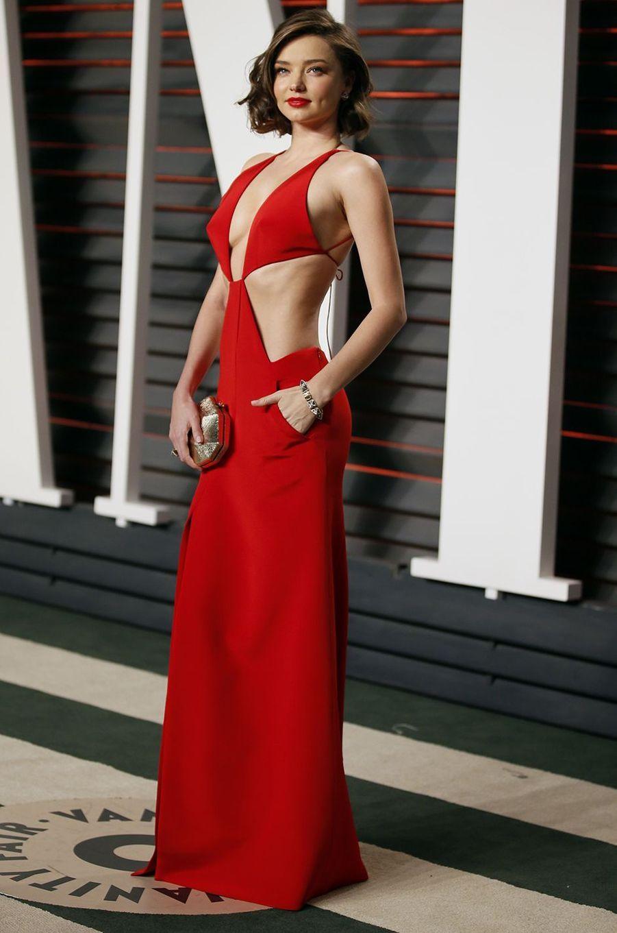 """Miranda Kerr à l'after-party du magazine """"Vanity Fair"""" le 28 février 2016 à Los Angeles"""