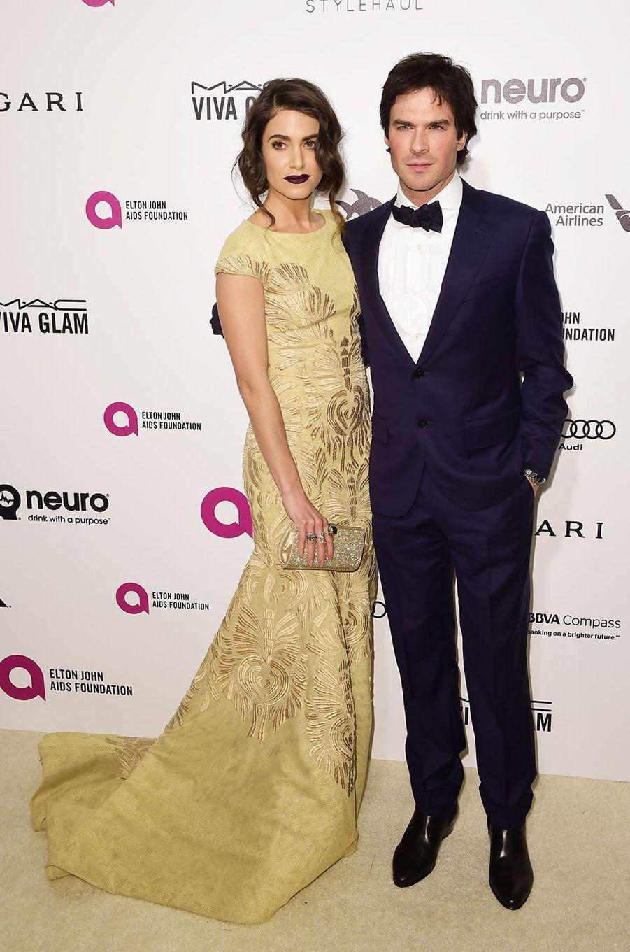 Nikki Reed et Ian Somerhalder au gala organisé au profit de la recherche contre le Sida à Los Angeles le 28 février 2016