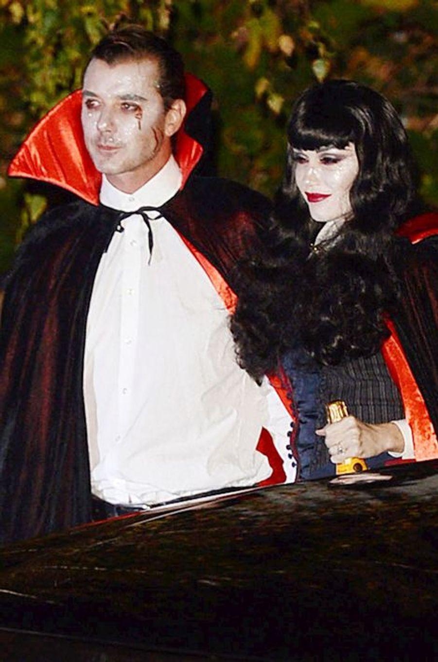 Gavin Rossdale et Gwen Stefani à Los Angeles le 31 octobre 2014