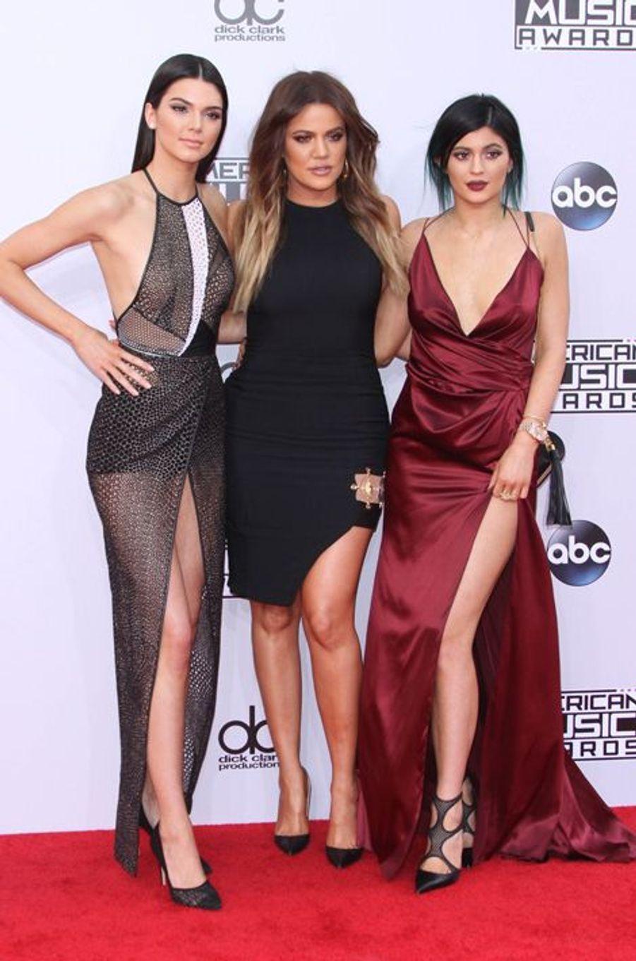 Khloé Kardashian, Kendall et Kylie Jenner à Los Angeles le 23 novembre 2014