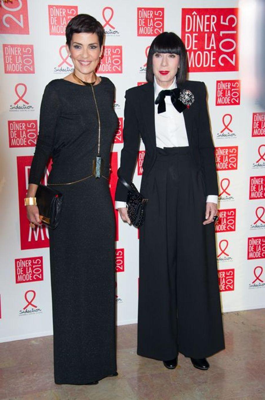 Cristina Cordula et Chantal Thomass à Paris le 29 janvier 2015