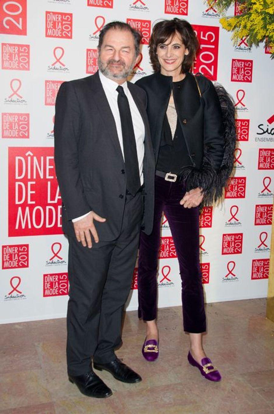Denis Olivenne et Inès de la Fressange à Paris le 29 janvier 2015