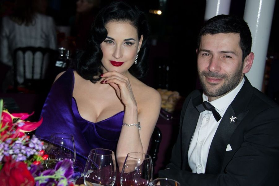 Dita Von Teese et Alexis Mabille à Paris le 29 janvier 2015