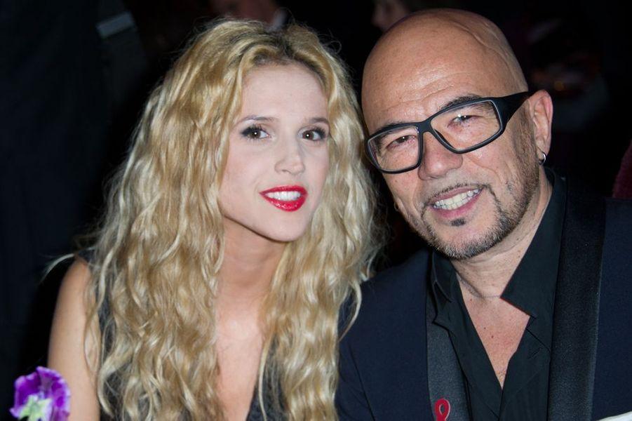 Julie Hantson et Pascal Obispo à Paris le 29 janvier 2015