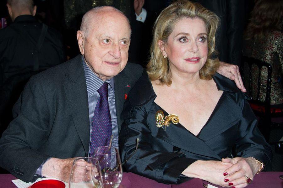 Pierre Bergé et Catherine Deneuve à Paris le 29 janvier 2015