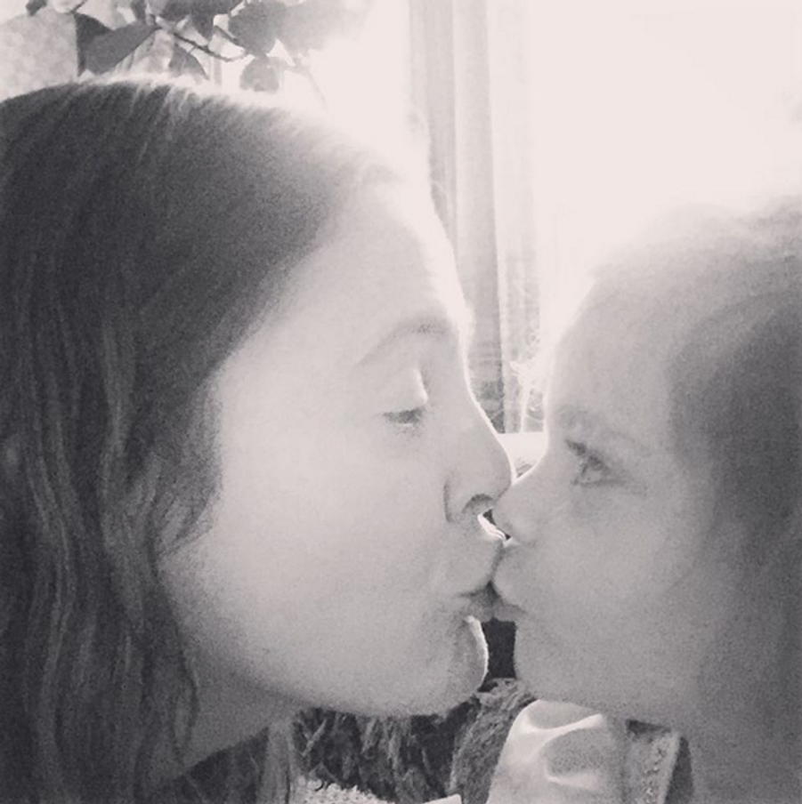 Drew Barrymore et sa fille Olive