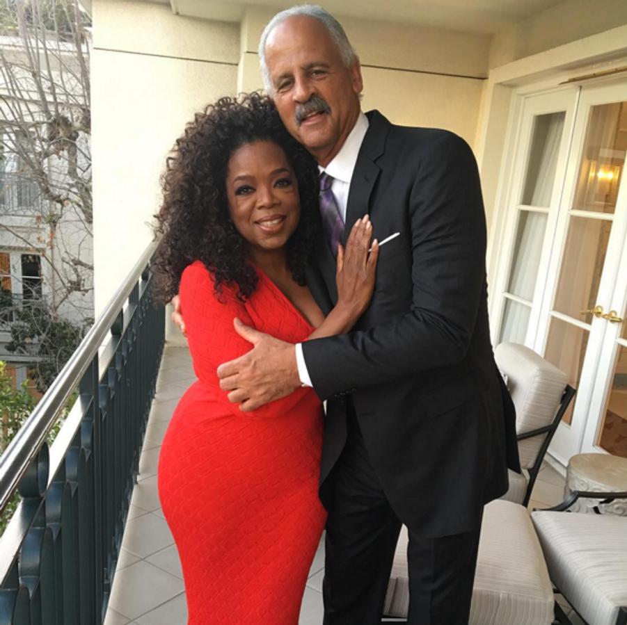 Oprah Winfrey et son mari Stedman Graham