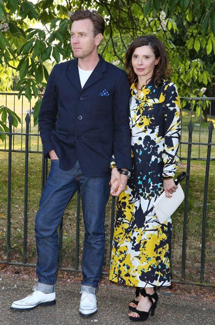 Ewan McGregor et Eve Mavrakis à Londres le 2 juillet 2015