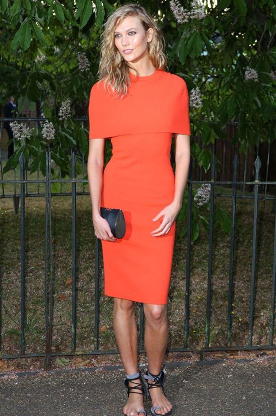 Karlie Kloss à Londres le 2 juillet 2015