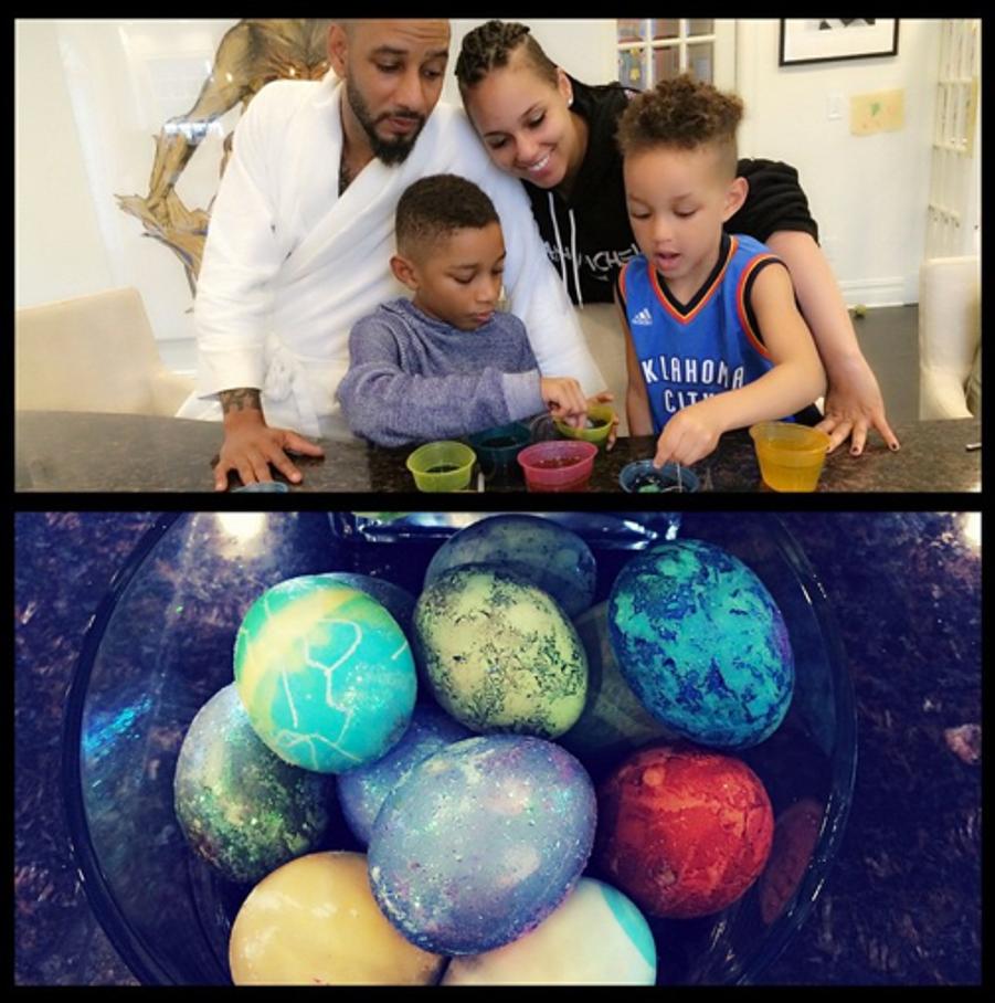 Alicia Keys, son mari Swizz Beatz et leurs enfants