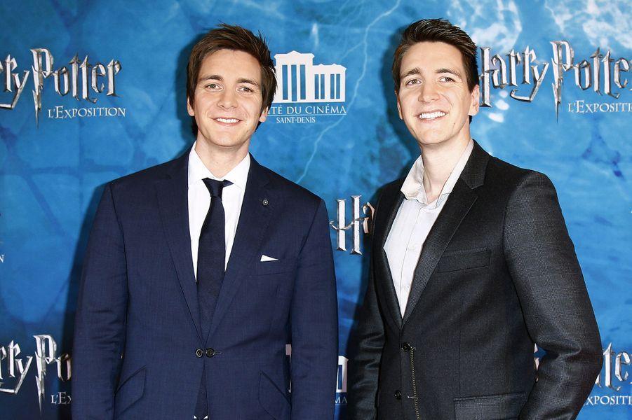 James et Oliver Phelps à Saint-Denis le 2 avril 2015