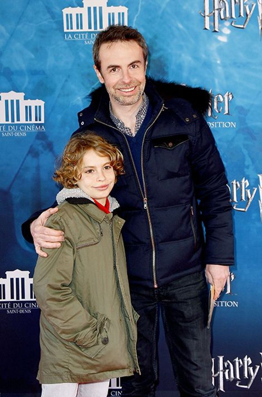 Matthieu Gonet et son fils à Saint-Denis le 2 avril 2015