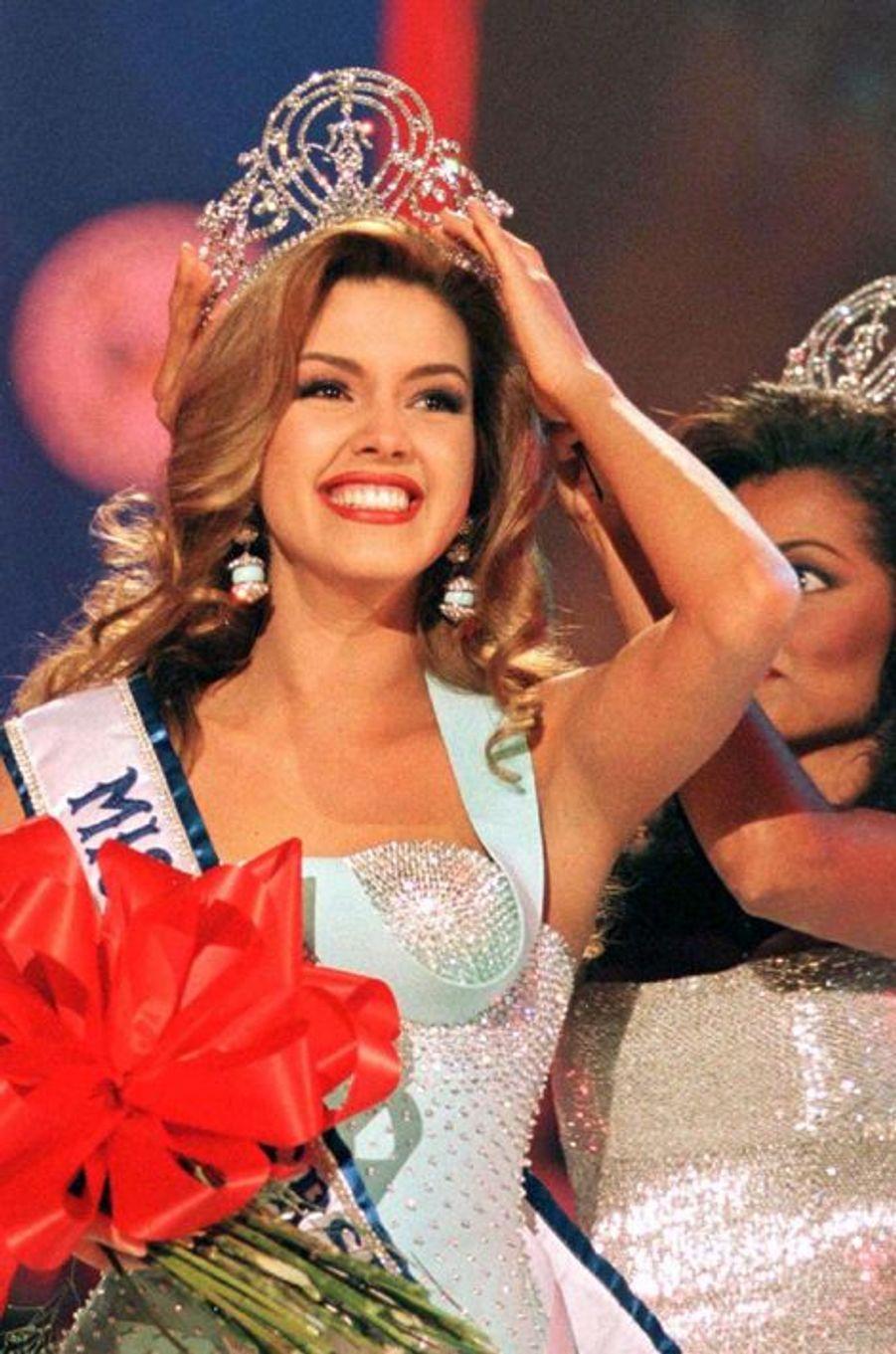 Alicia Machado, Miss Venezuela élue Miss Univers en 1996