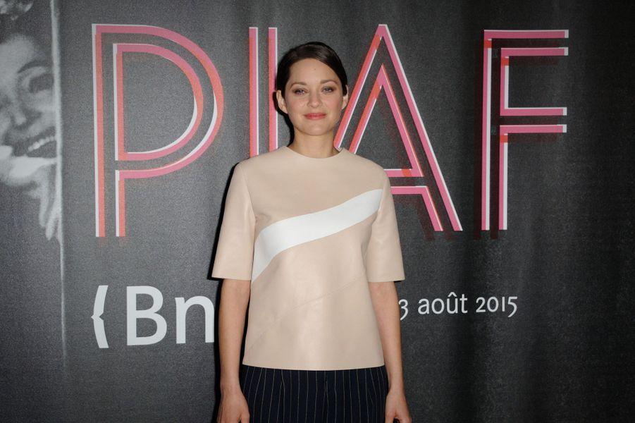 Marion Cotillard à Paris le 14 avril 2015