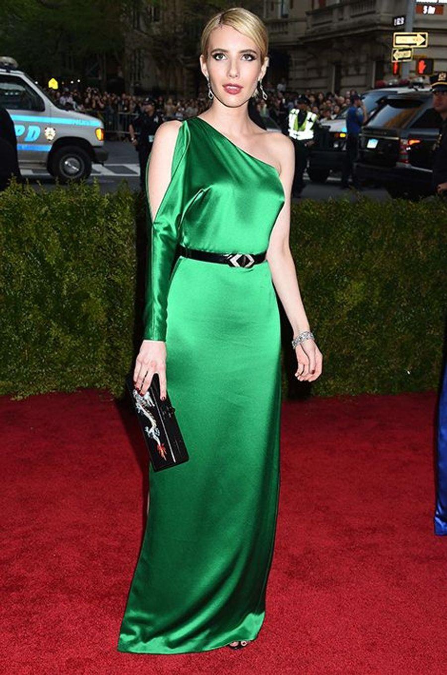 Emma Roberts en Ralph Lauren Collection