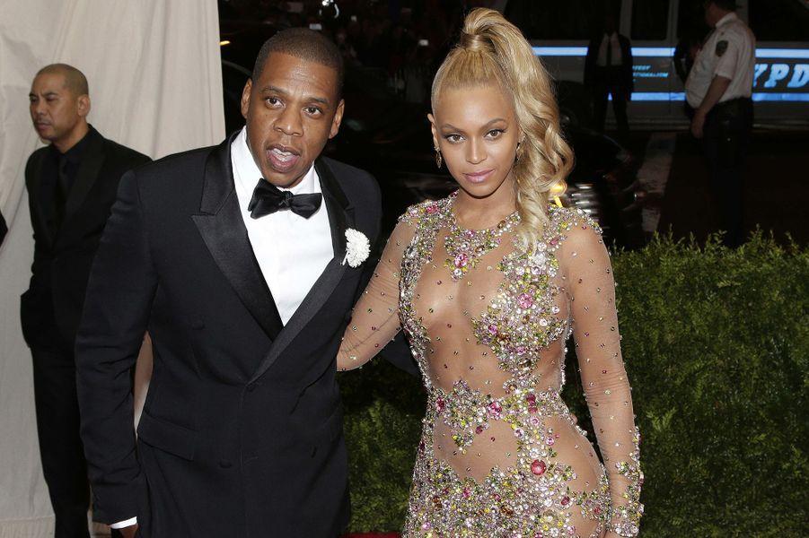 Jay Z et Beyoncé. La chanteuse portait du Givenchy Couture