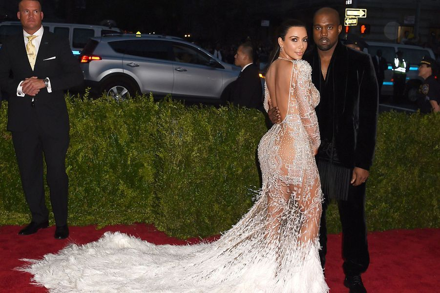 Kim Kardashian et Kanye West en Roberto Cavalli