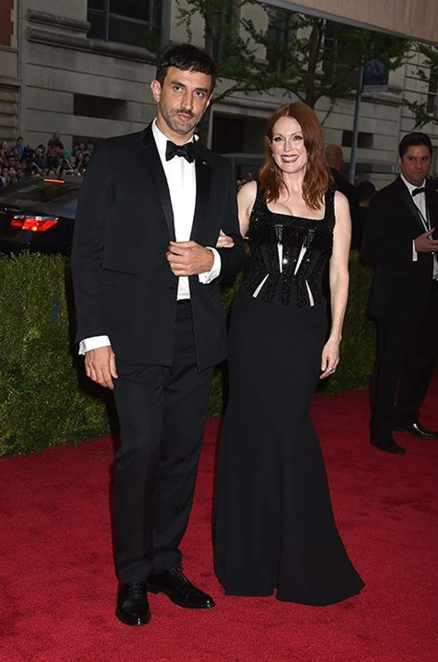 Riccardo Tisci et Julianne Moore, en Givenchy