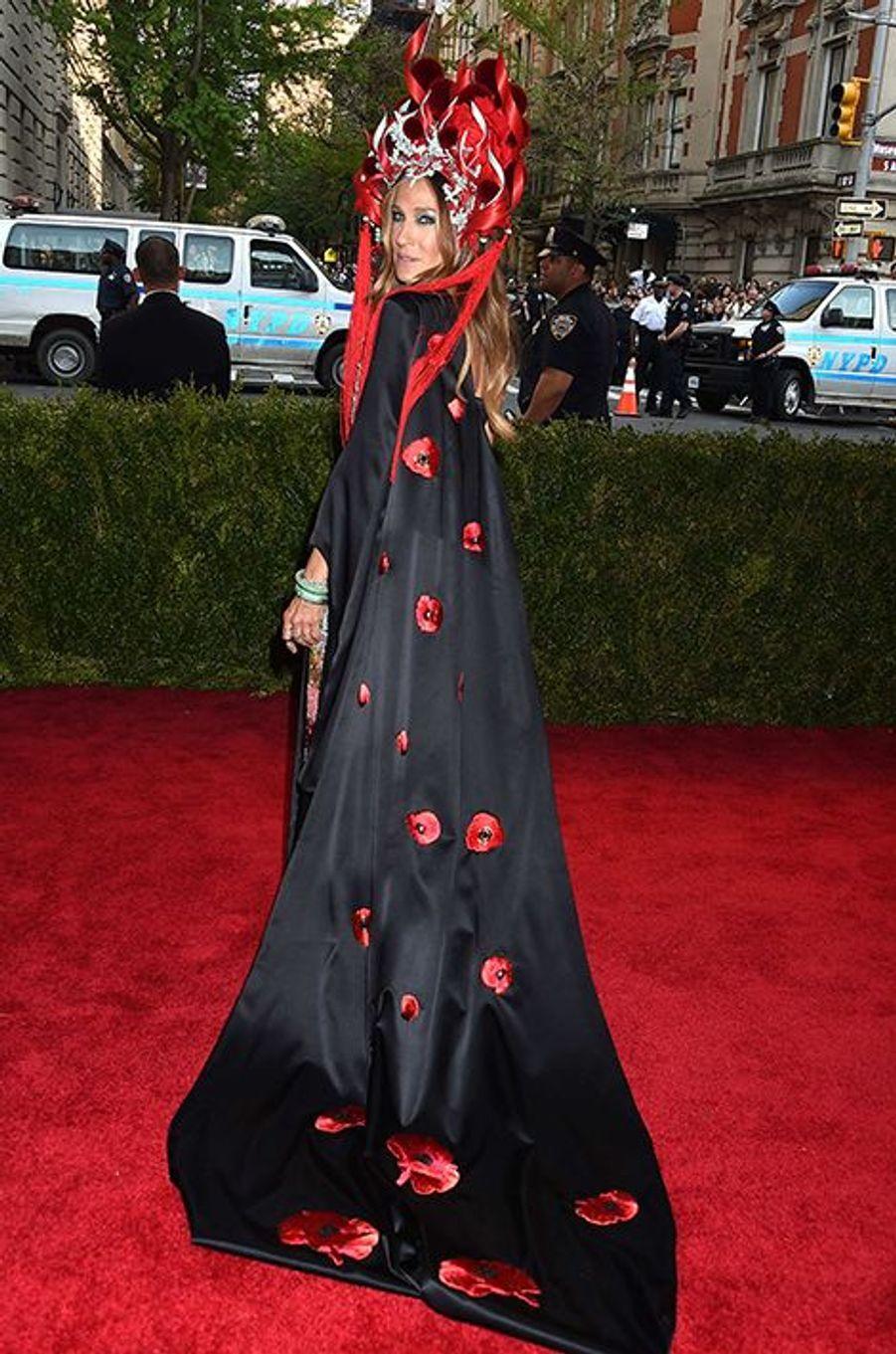 Sarah Jessica Parker portait une robe H&M imaginée par elle-même
