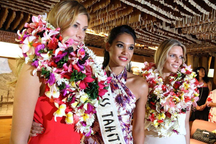 Miss France 2015, sa première dauphine Miss Tahiti et Sylvie Tellier