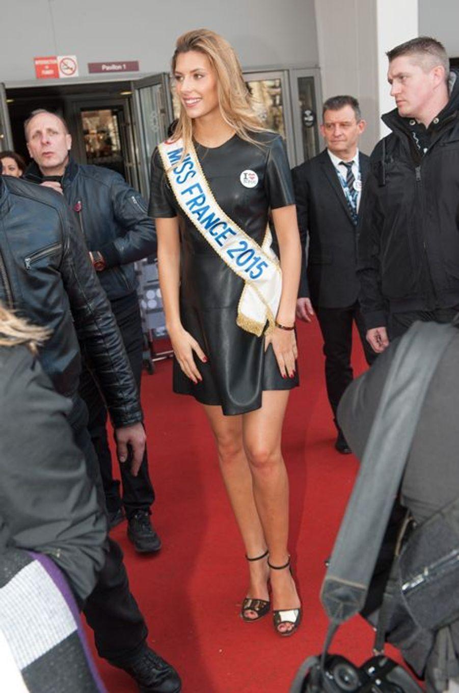 Camille Cerf à la Porte de Versailles de Paris le 24 février 2015