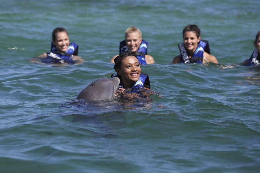Les prétendantes au titre de Miss France 2015 à Punta Cana le 16 novembre 2014