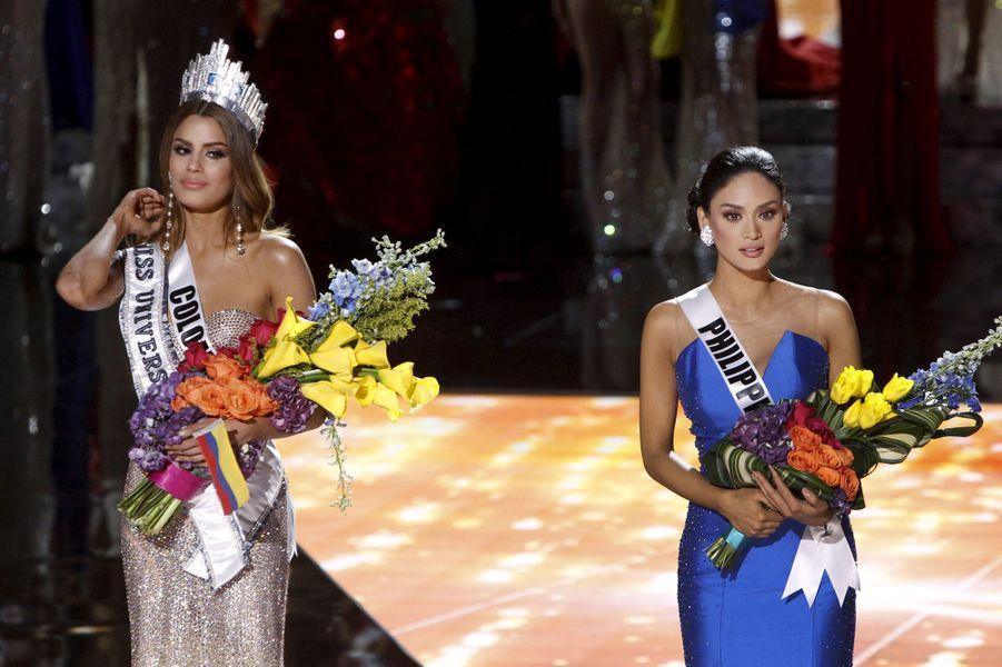 Miss Colombie, Ariadna Gutierrez, et Miss Philippines, Pia Alonzo Wurtzbach