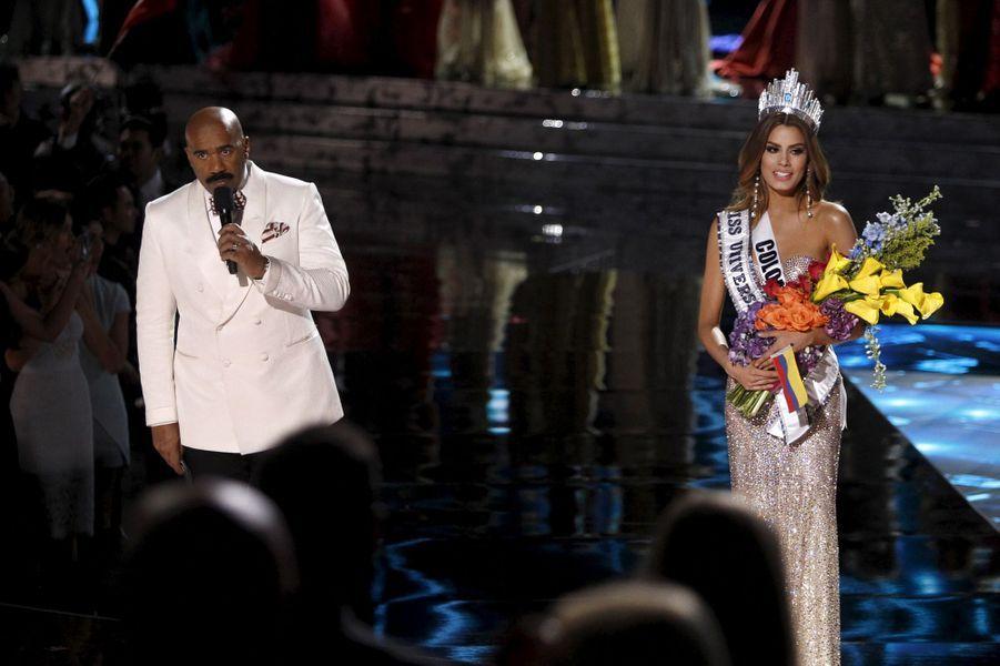 Steve Harvey et Miss Colombie