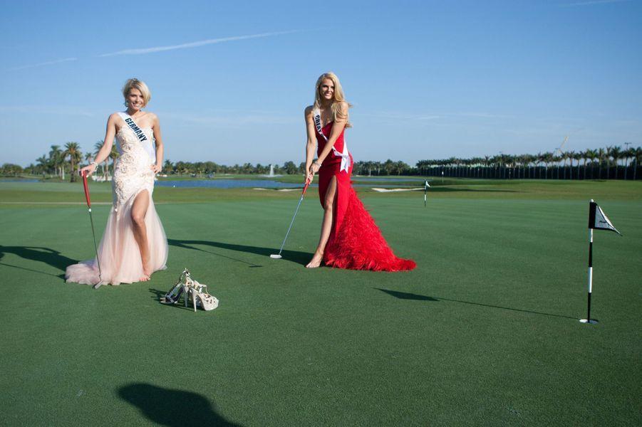 Miss Grande-Bretagne et Miss Allemagne pour Miss Univers 2015
